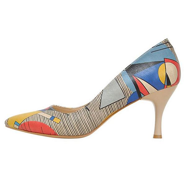 Dogo Shoes, Klassische Pumps Geo lines, mehrfarbig   mirapodo edcffec479