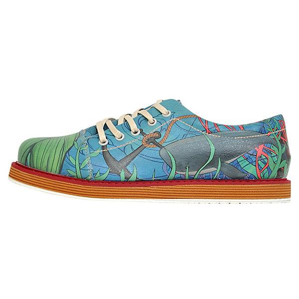 Dogo Shoes Schnürschuhe Underwater mehrfarbig