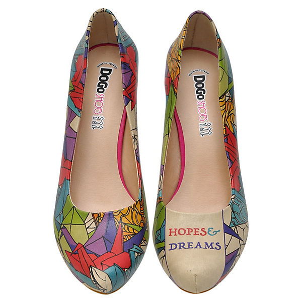 Dogo Shoes Klassische Pumps Hopes & Dreams mehrfarbig