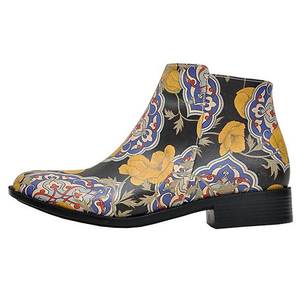 Dogo Shoes Schlupfstiefeletten Tiles and Flowers mehrfarbig