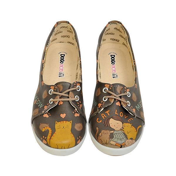 Dogo Shoes Sportliche Ballerinas Cat Love mehrfarbig