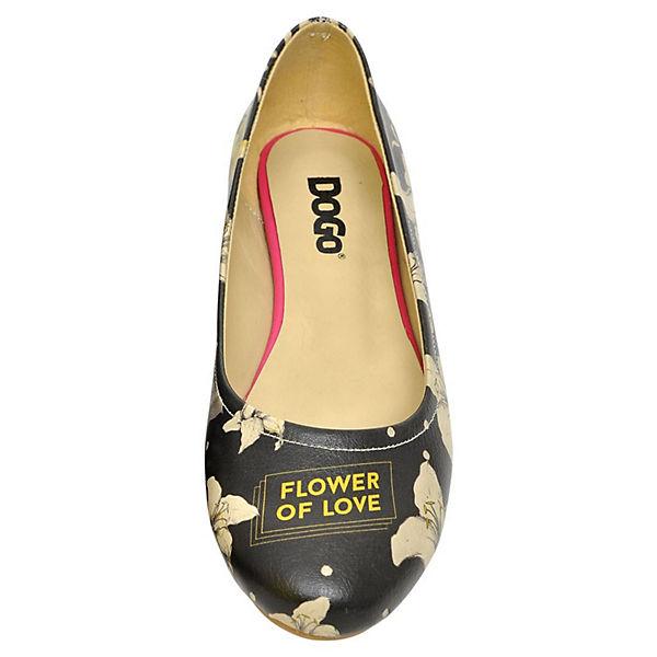 Dogo Shoes Klassische Ballerinas Flower of Love mehrfarbig