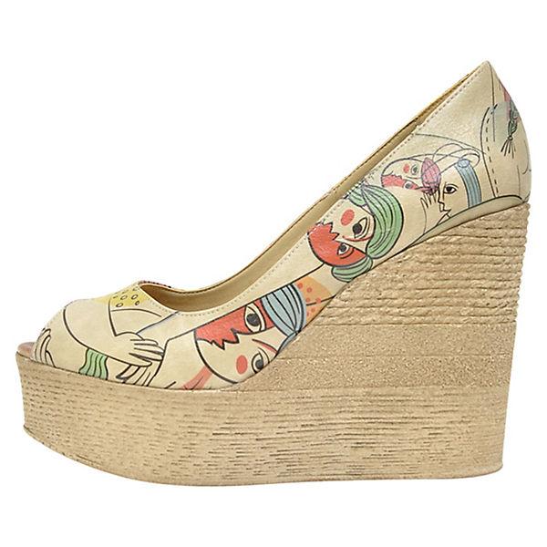Dogo Shoes Plateau-Pumps Cubic Life mehrfarbig