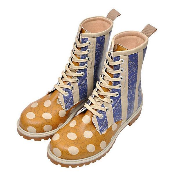 Dogo Shoes Klassische Stiefel Stripes and Dots mehrfarbig  Gute Qualität beliebte Schuhe