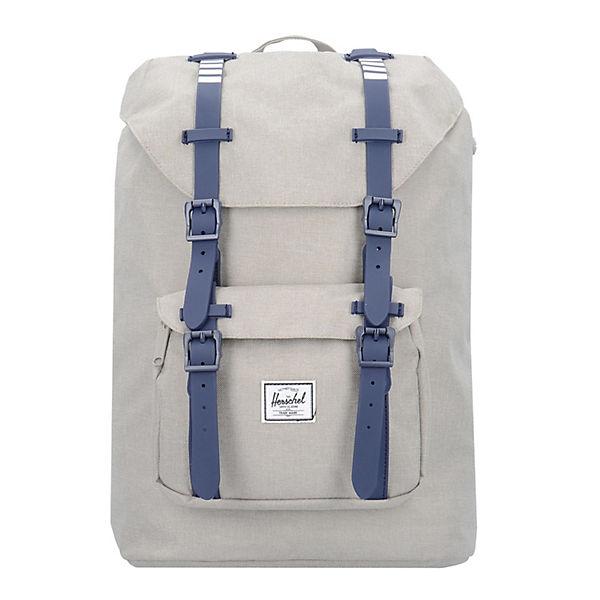 Herschel Rucksack Little America 17 I Mid Volume Backpack Rucksack 38 cm Laptopfach beige