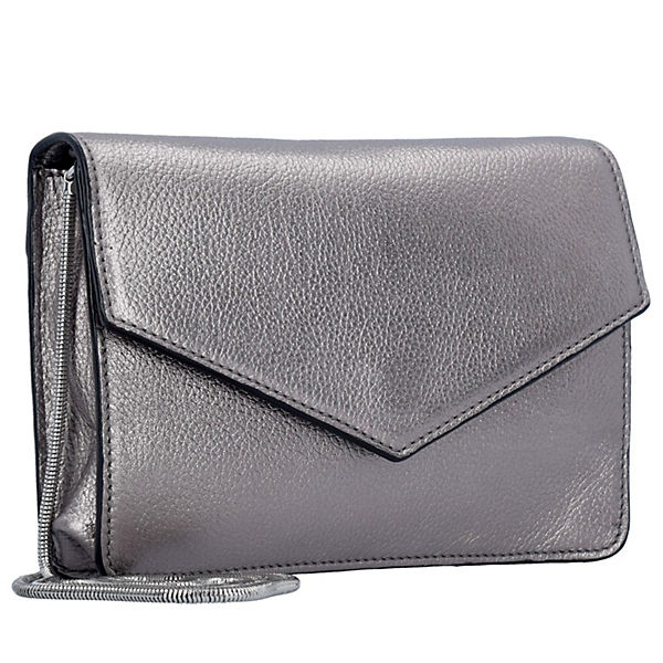 ESPRIT Handtasche Vera Clutch Tasche 20 cm silber