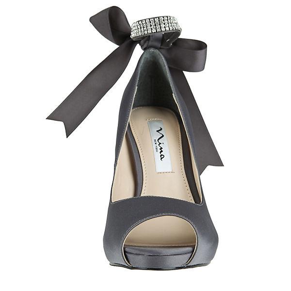 Nina, Peeptoe-Pumps KAREN, grau  Schuhe Gute Qualität beliebte Schuhe  1ec099