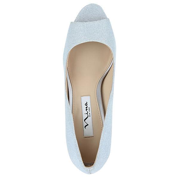 Nina, Gute Peeptoe-Pumps FARLYN, hellgrau  Gute Nina, Qualität beliebte Schuhe 4732ee