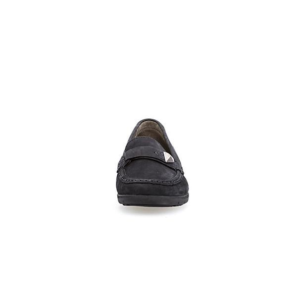Gabor Komfort-Slipper blau