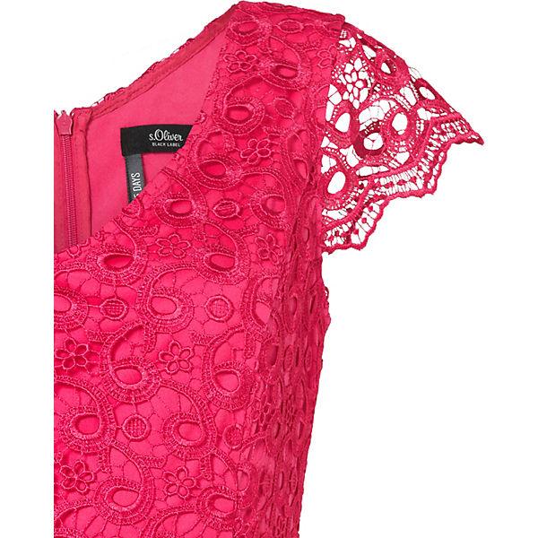 s pink LABEL Oliver BLACK Spitzenkleid XOOx64wZ