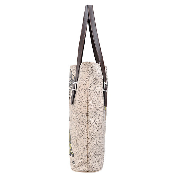 Dogo Shoes Umhängetasche Tall Bag Sciencecubic series radioactive queen bunt