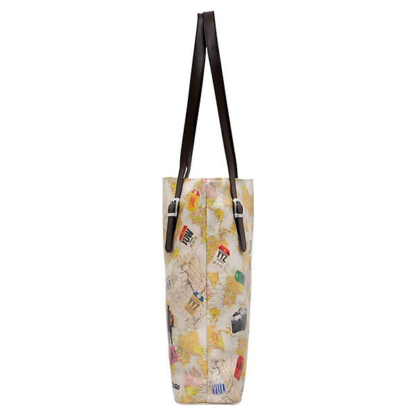 Dogo Shoes Umhängetasche Tall Bag Travel Lover bunt