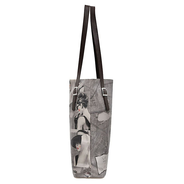 Dogo Shoes Umhängetasche Tall Bag Go Back to Being Yourself bunt