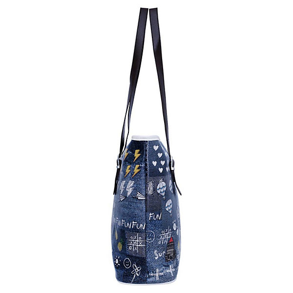 Dogo Shoes Umhängetasche Fitbag Be Yourself bunt