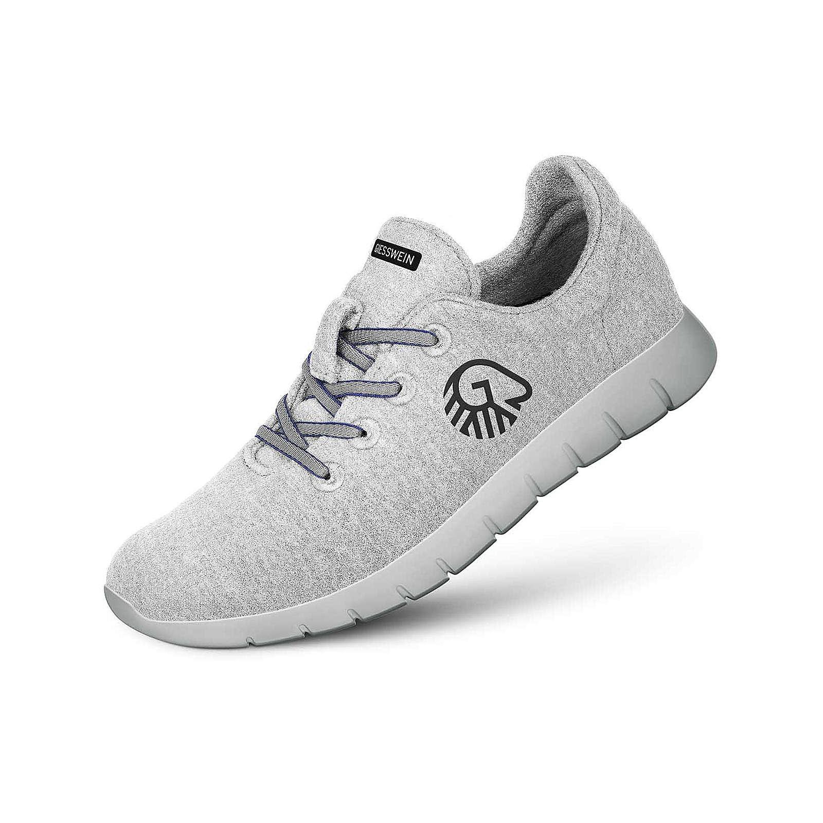 Giesswein Woll-Sneaker Merino Runners MEN Sneakers Low weiß/grau Herren Gr. 46