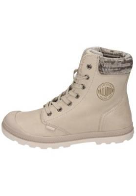 Boots Palladium Beige Leder Sonst. Material Gummisohle