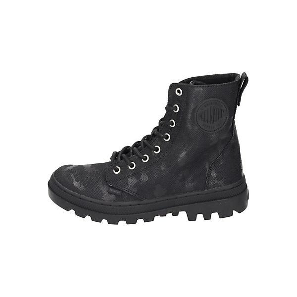Palladium, Boot Schnürstiefel, schwarz