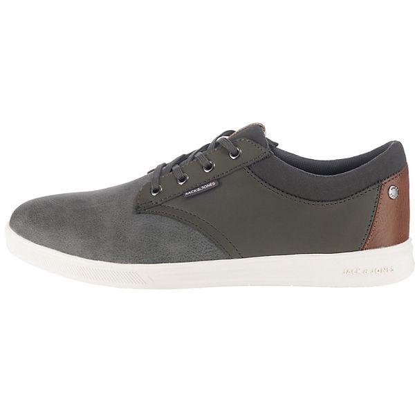 dunkelgrau JACK PU Combo JFW amp; Low Gaston JONES Sneakers 6wqx7fav6