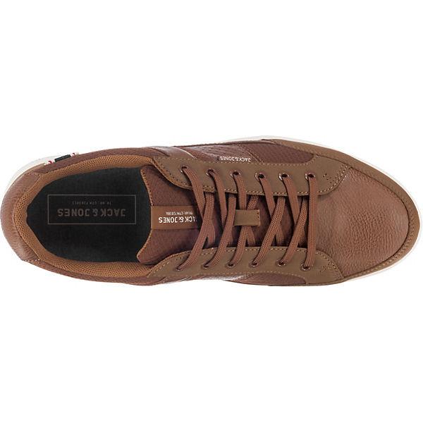 JACK & Low, JONES, JFW Rayne Mesh Mix Sneakers Low, & cognac   141979