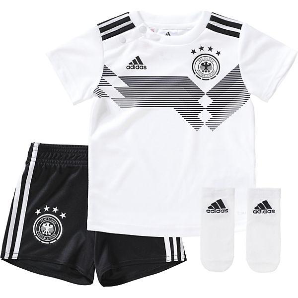 Adidas Kinder Dfb Heim Minikit Wm 2018 Trikot Shorts Whiteblack