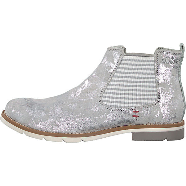 weiß silber s Boots Oliver Chelsea wz0UBqBXxI
