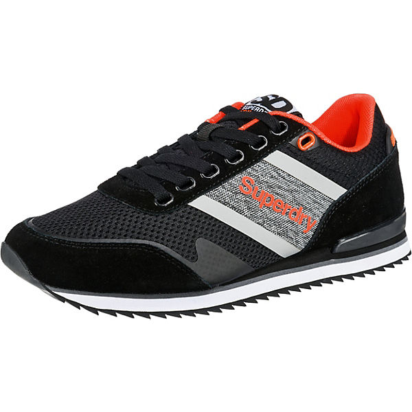 FERO Superdry schwarz Low kombi Sneakers RUNNER 6nqqaU