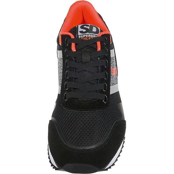 Superdry FERO RUNNER Sneakers Low schwarz-kombi