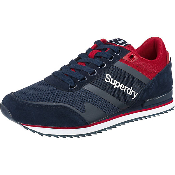Superdry FERO RUNNER Sneakers Low blau-kombi