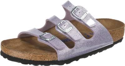 Birkenstock BIRKENSTOCK Arizona Weichbettung schmal Komfort-Pantoletten, lila, violett