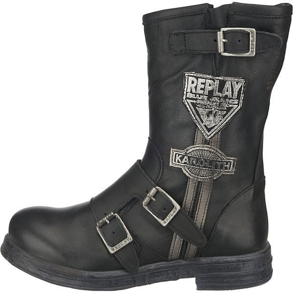 REPLAY, Shelby Schnürstiefeletten, schwarz  Gute Qualität beliebte Schuhe