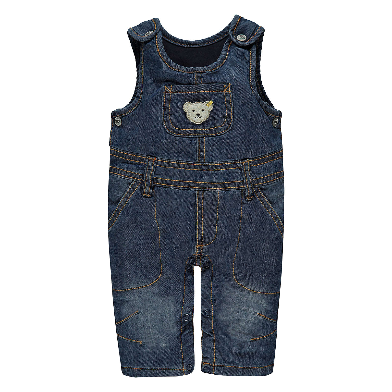 bdc2d96fc1638 Steiff Baby Latzhosen für Jungen blue denim Jun.