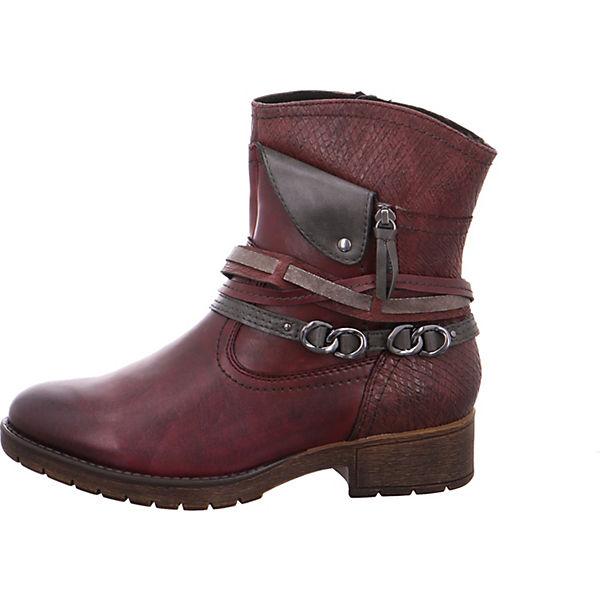 Jana, Biker Stiefel, rot  Gute Qualität beliebte Schuhe