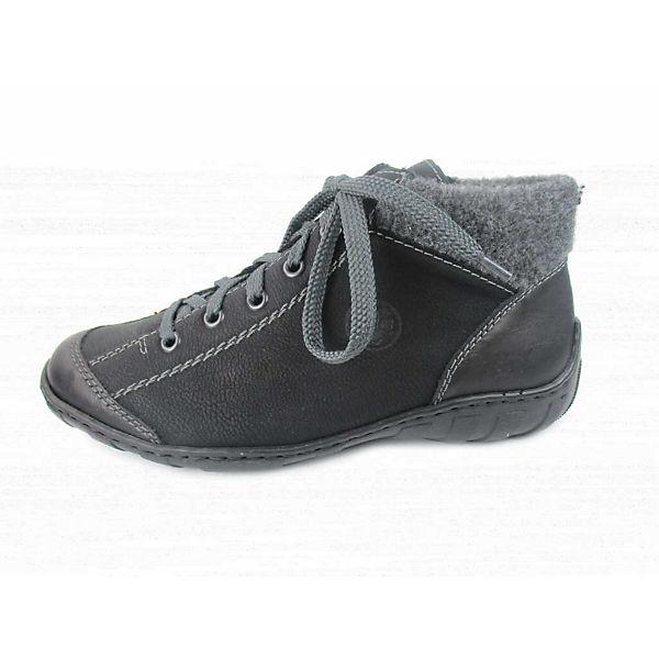 rieker, Schnürstiefeletten, schwarz  Gute Qualität beliebte Schuhe