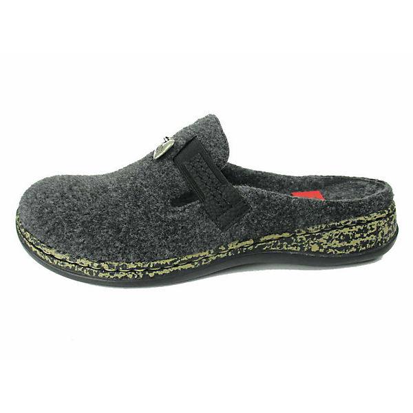 rieker, Komfort-Pantoletten, dunkelgrau  Gute Qualität beliebte Schuhe