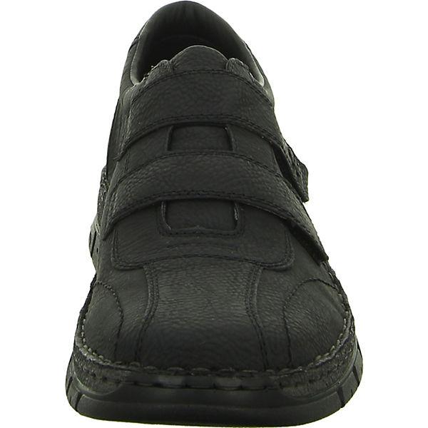 rieker, Komfort-Halbschuhe, schwarz schwarz schwarz   d82a15