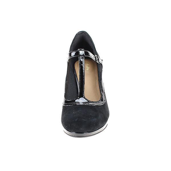 Clarks, Qualität T-Steg-Pumps, schwarz  Gute Qualität Clarks, beliebte Schuhe c856a0