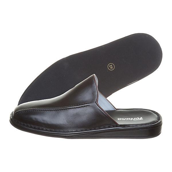 Fortuna Pantoletten Fuessen Flex bordeaux/schwarz  Gute Qualität beliebte Schuhe