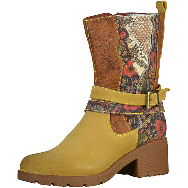 Laura Vita Biker Boots gelb-kombi