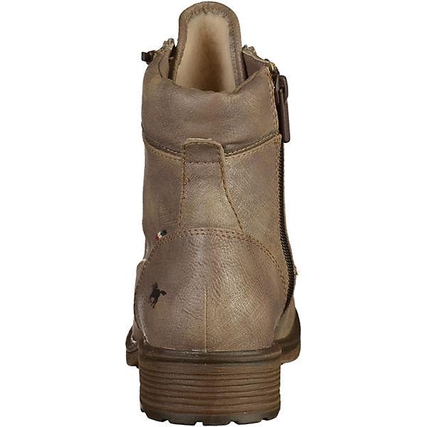 MUSTANG, Biker Stiefel, grau    Gute Qualität beliebte Schuhe 51f062