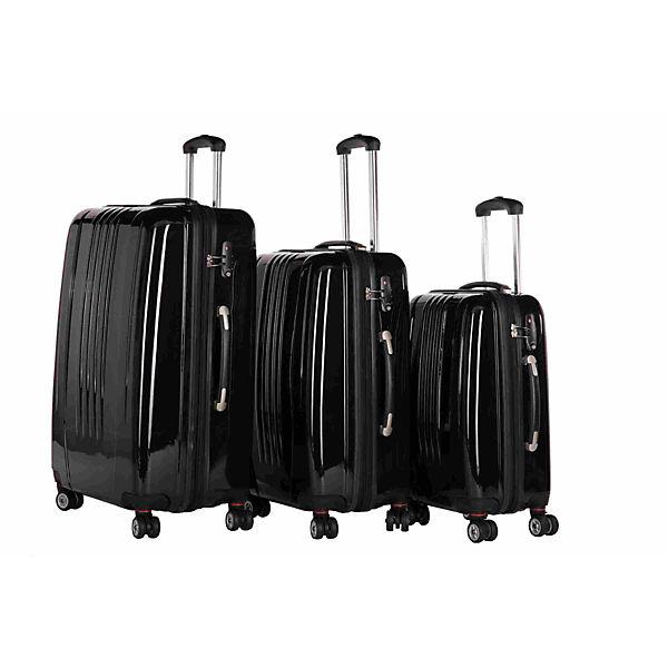 Packenger Kofferset Stone Kofferset Größe M, L und XL schwarz