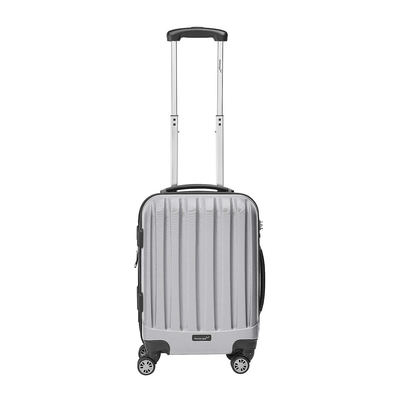 Packenger Koffer Velvet Bordcase silber