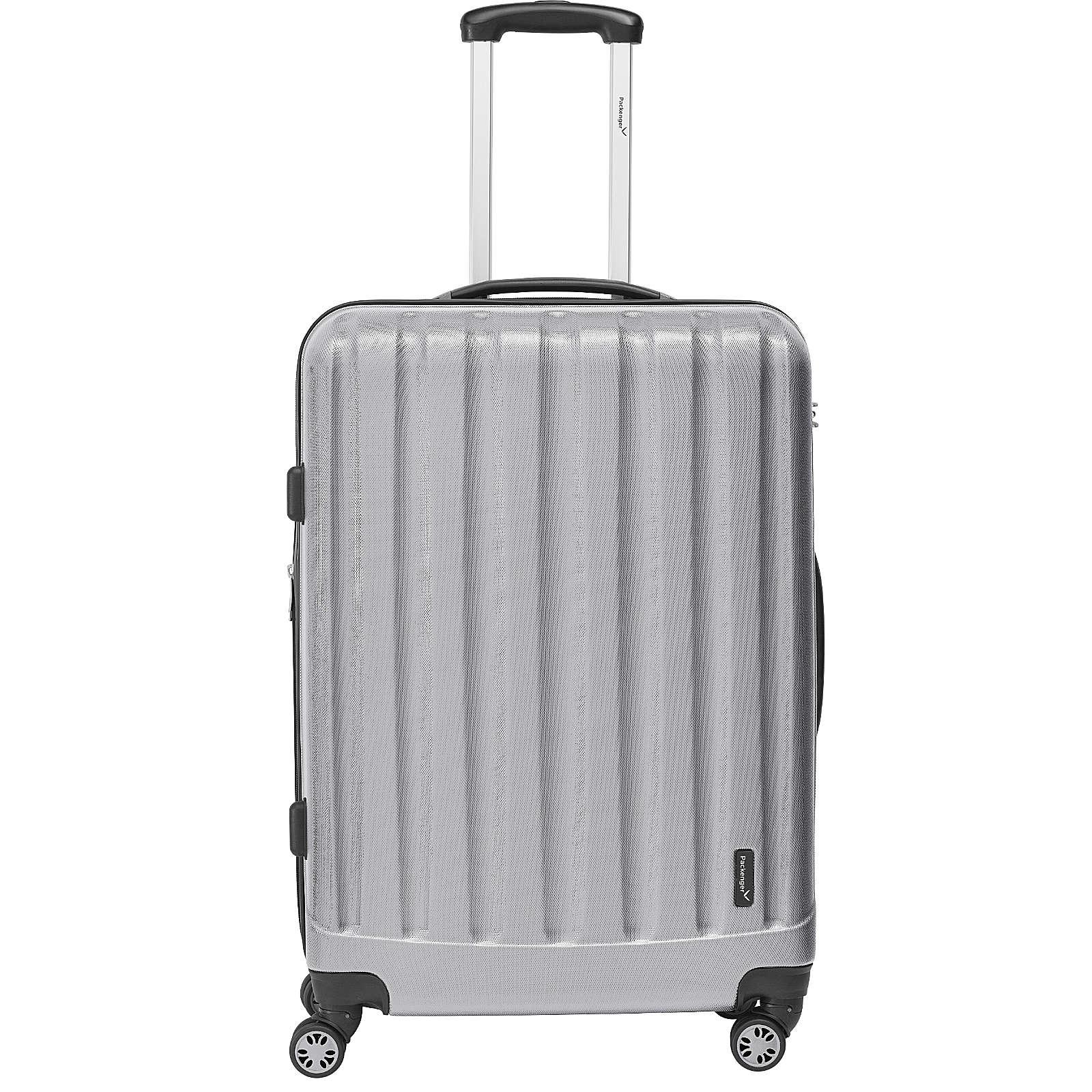 Packenger Koffer Velvet Reisetrolley silber