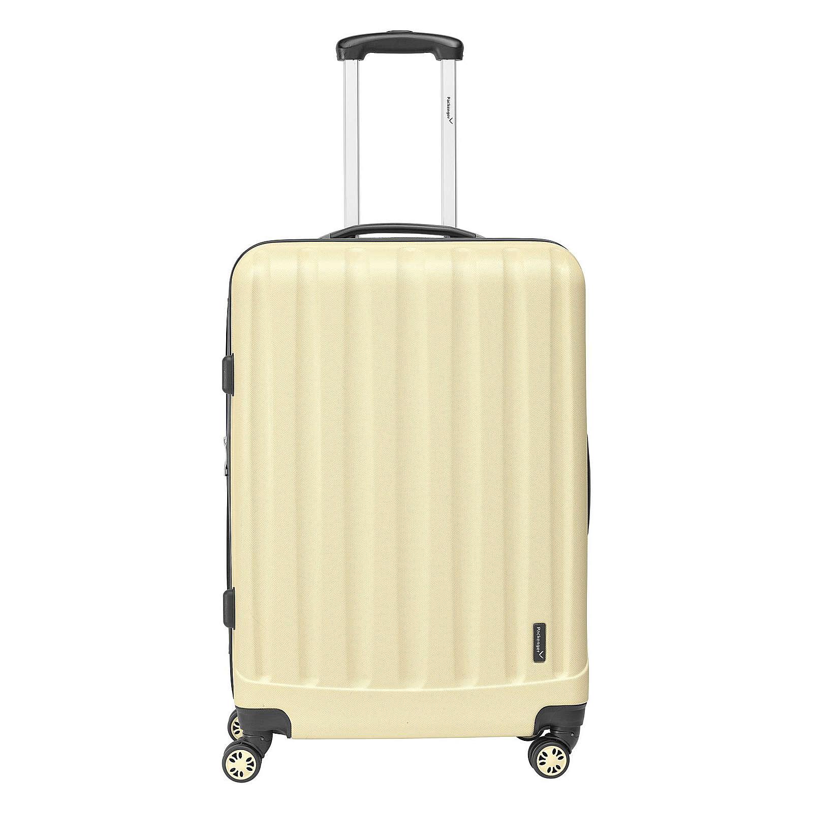 Packenger Koffer Velvet Reisetrolley camel
