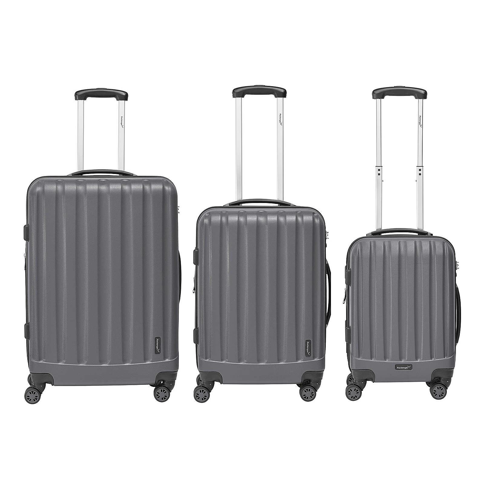 Packenger Kofferset 3er-Set Velvet grau