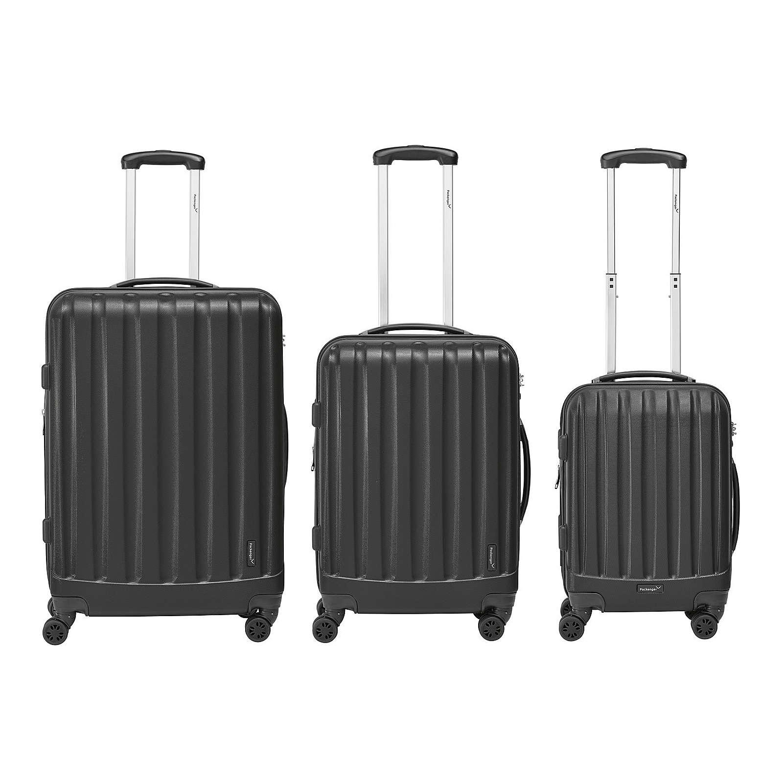 Packenger Kofferset 3er-Set Velvet schwarz