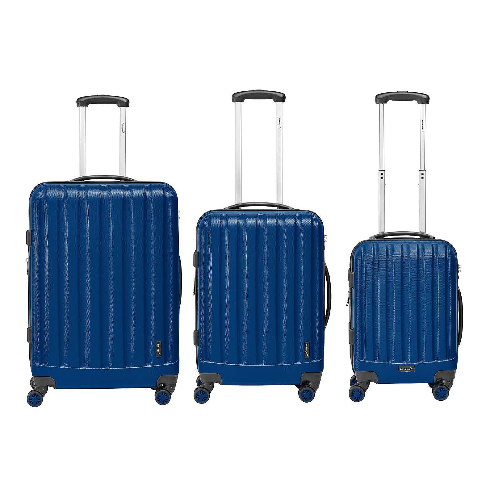 Packenger Kofferset 3er-Set Velvet dunkelblau