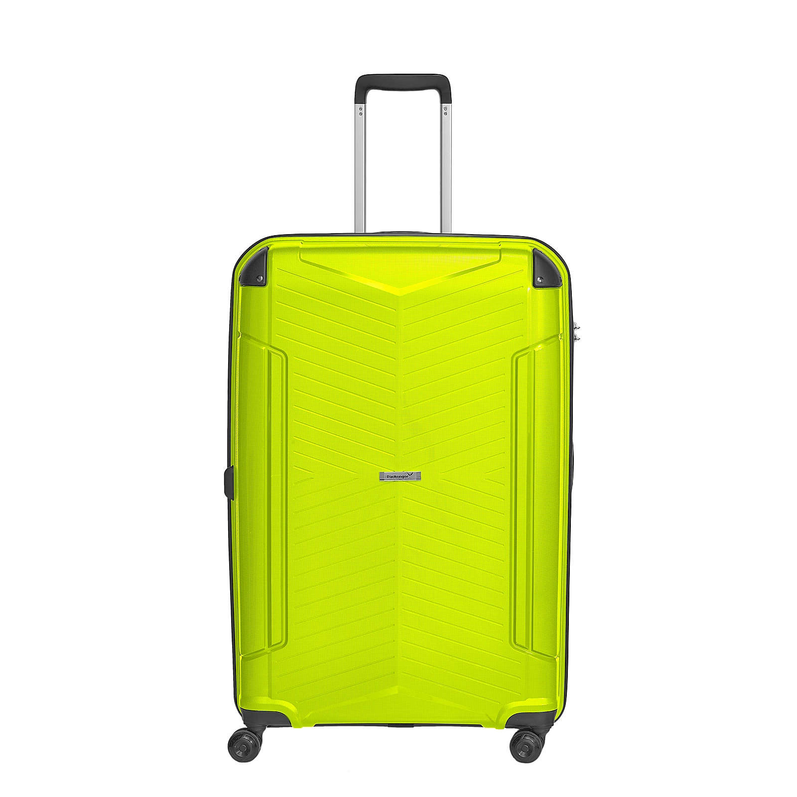 Packenger Koffer Premium Silent Reisekoffer hellgrün