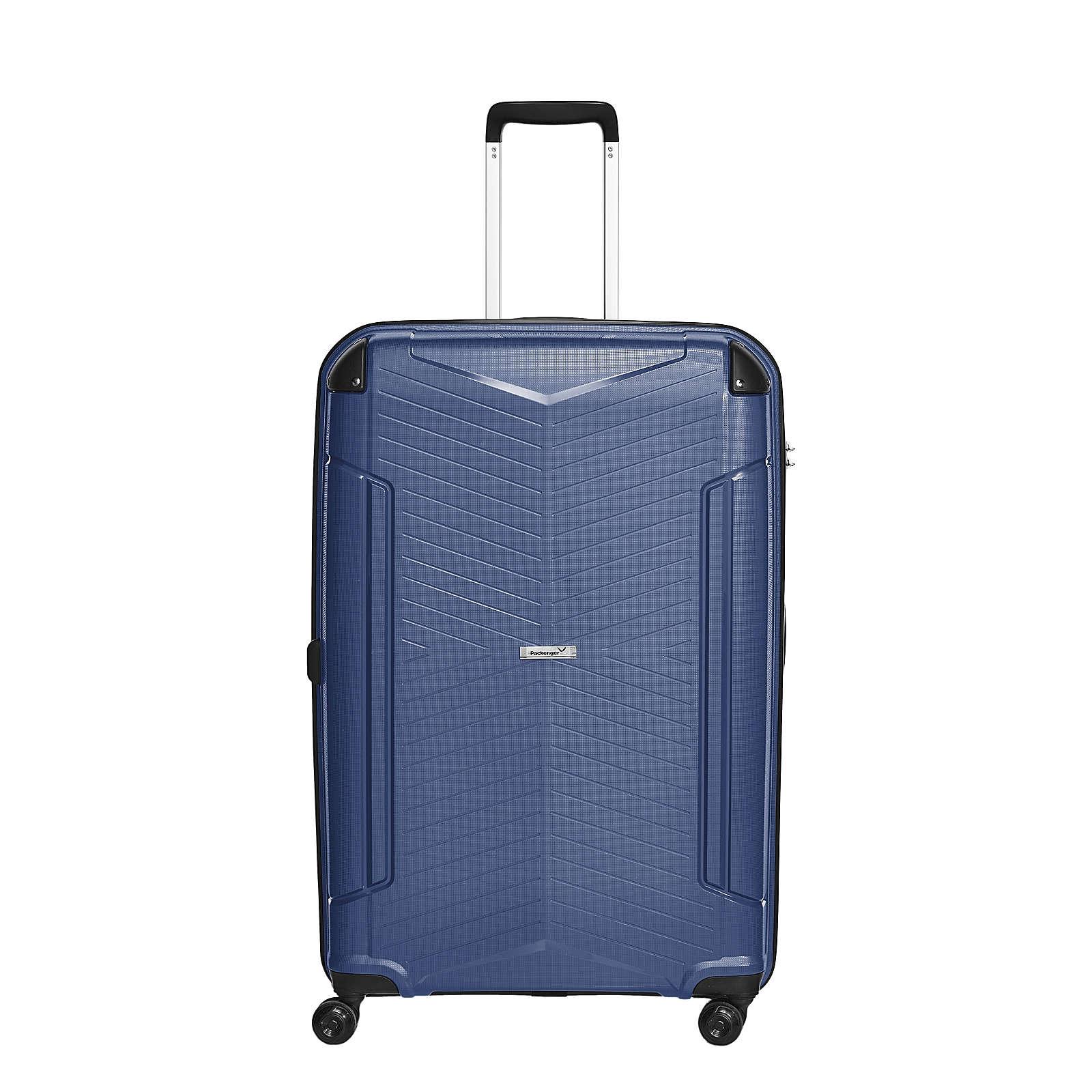 Packenger Koffer Premium Silent Reisekoffer dunkelblau