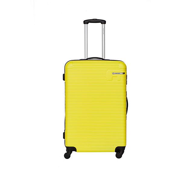 Packenger Koffer Bannisters Hudson Koffer 3er-Set Schwarz gelb