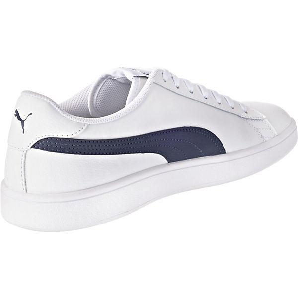 PUMA Puma Smash v2 L Sneakers Low weiß-kombi